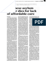 Sudanese asylum seeker dies in Israel for lack of affordable health care | Haaretz Oct' 2013
