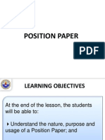 1 Lecture - Position Paper.ppt