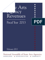 State Arts Agency Revenues Fiscal Year 2013