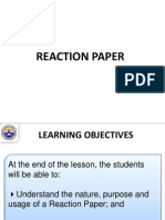 2 Lecture - Reaction Paper.ppt