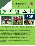 Confiabilidad Deportiva Evaluación en el Campo
