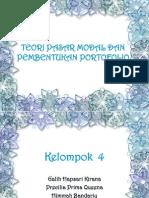 Teori Pasar Modal & Pembentukan Portofolio-Kel 4