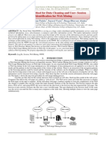 A Novel Method for Data Cleaning and User- Session Identification for Web Mining