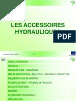 Accessoires hydrauliques