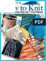 How to Knit Beginner Knitting Help and 7 Free Patterns.pdf