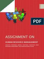 Human Resource Management, Strategic HRM, Personnel Management
