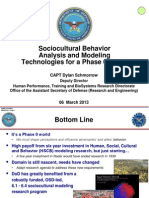 US DoD Sociocultural Behavior Analysis and Modeling Technologies for a Phase 0 World