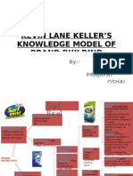 KEVIN LANE KELLER'S KNOWLEDGE MODEL OF BRAND BUILDIND