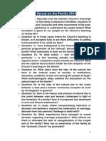 Extraordinary Synod on the Family 2014 - Survey
