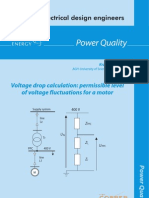 Permissible level of voltage fluctuations for a motor