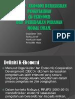 Konsep  Ekonomi Berasaskan Pengetahuan  (K-ekonomi) Dan  Perubahan Peranan Modal Insan.