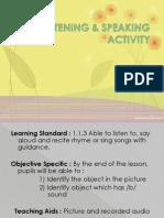 Listening & Speaking Activity