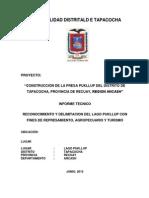Informe de Laguna Tapacocha