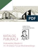 katalog wydawnictwo KA