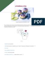 Cupcake Arandanos y Lima