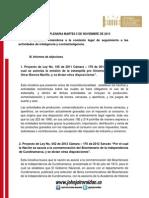 Resumen Plenaria 5 Nov
