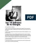 LOS  DIEZ LADRONES DE TU ENERGÍA SEGUN BUDA.docx