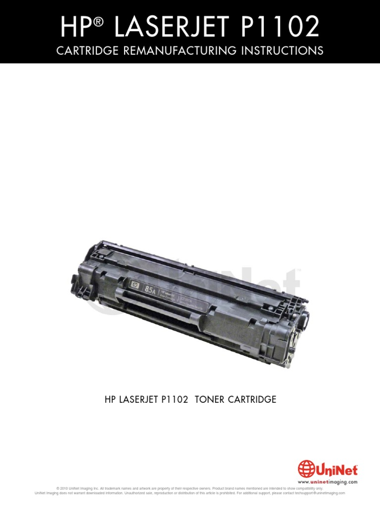 Hp Ljp1102 Toner Refill Cart Printer Computing Equipment Opc Drum Laserjet P1102 Katrid Ce285a 85a