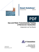Transmissivity of nonwoven geotextiles