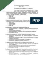 Teste Grila - Management Comparat