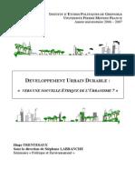 Développement Urbain Durable