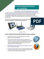 2008 WiFi Connectivity Grant Setup Rev. 10.01.08b