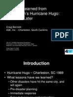 Bennett Lessons Learned From Hurricane Hugo Power Point Presentation