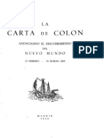 Carta de Colon