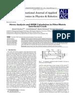 Stress Analysis and SERR Calculation in Fiber/Matrix Interfacial Crack