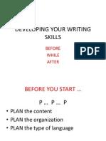 Developing Your Writing Skills