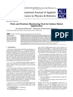 Path and Position Monitoring Tool for Indoor Robot Application