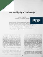 ambiguity of leadership