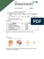 Examen de Biologia 5t0 y 6to