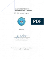 Department of Defense Developmental Test and Evaluation FY 2012 Annual Report