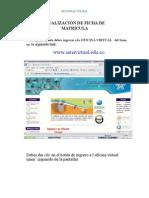 Manual Para Ficha de Matricula