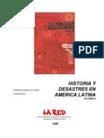 Historia de Desastres en America Latina