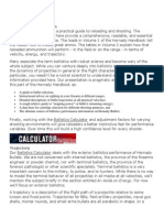 External Ballistics - Understanding Ballistics
