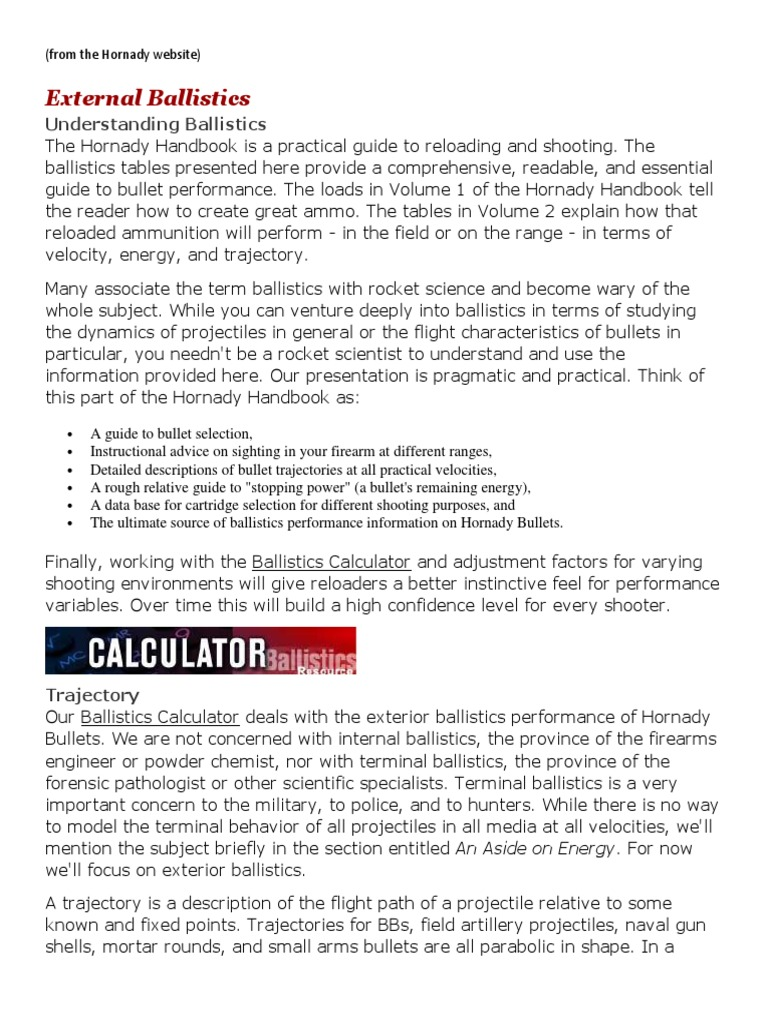 External Ballistics - Understanding Ballistics | Bullet | Projectile