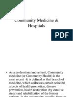 Community Medicine & Health