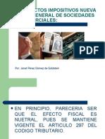 Ley General de Las Sociedades, Aspecto Impositivo