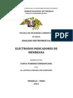 Electrodos Indicadores de Menbrana