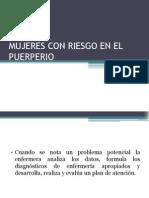 Mujeres Con Riesgo en El Puerperio