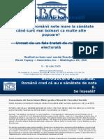 Sondaj despre Sanatate BCS iulie 2009 Health Poll Romania july 2009
