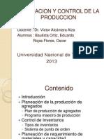 Planeacion y Control de La Produccion