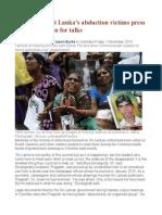 Relatives of Sri Lanka's Abduction Victims Press David Cameron for Talks