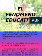 El Fenomeno Educativo
