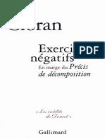Exercices negatifs - Cioran, E.
