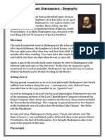 Biography William Shakespeare