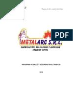 Programa de Seguridad - Metalarc 2014