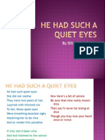FORM 4 - HE HAD SUCH A QUIET EYES.ppt